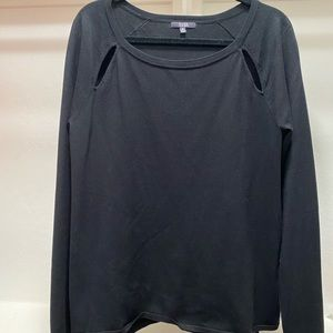 Tops - NYDJ medium black long sleep shirt